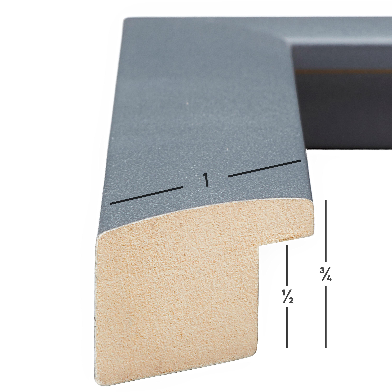 201421RG1620 Slater Craig Frames 16x20 Inch Modern Satin Grey Picture Frame