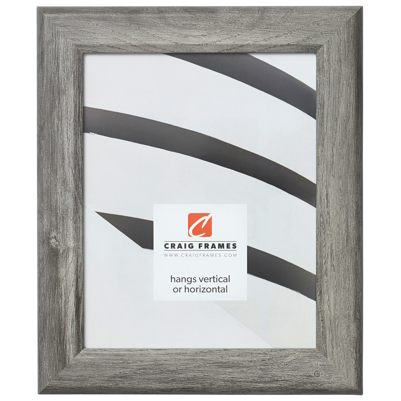 14x20 Gray Barnwood Picture Frame White Mat with Opening for 11x17 Image