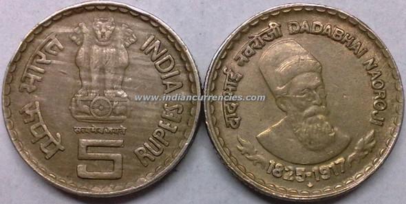 5 Rupees of 2002 - Dadabhai Naoroji - Hyderabad Mint