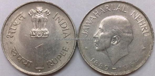 1 Rupee of 1964 - Jawaharlal Nehru - Mumbai Mint