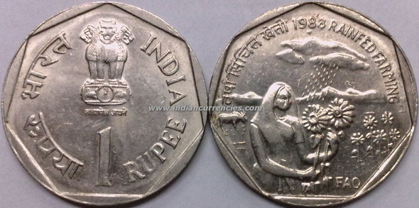 1 Rupee of 1988 - Rainfed Farming (Fao) - Mumbai Mint
