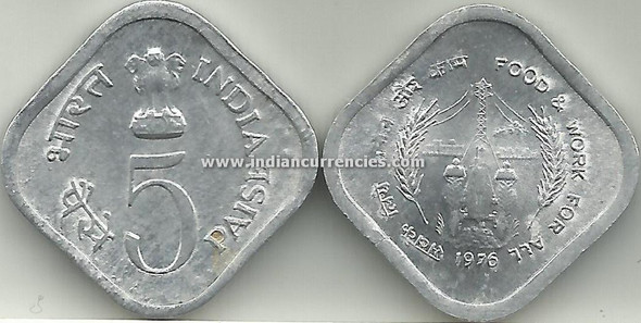 5 Paise of 1976 - Food & Work For All - Kolkata Mint