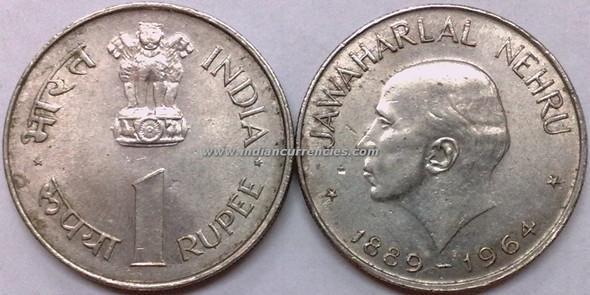1 Rupee of 1964 - Jawaharlal Nehru - Kolkata Mint