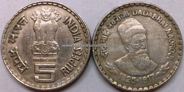 5 Rupees of 2002 - Dadabhai Naoroji - Kolkata Mint