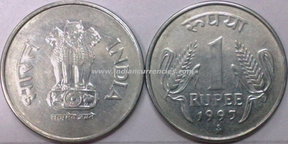 1 Rupee of 1997 - Foreign Mint - Mexico city OM