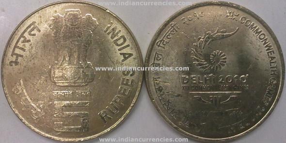 5 Rupees of 2010 - XIX Commonwealth Games 2010 Delhi - Kolkata Mint