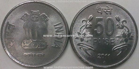 50 Paise of 2011 - Mumbai Mint - Diamond