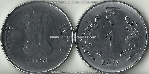 1 Rupee of 2017 -  Kolkata Mint - No Mint Mark - R Symbol