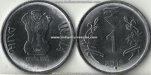 1 Rupee of 2018 -  Mumbai Mint - Diamond - R Symbol