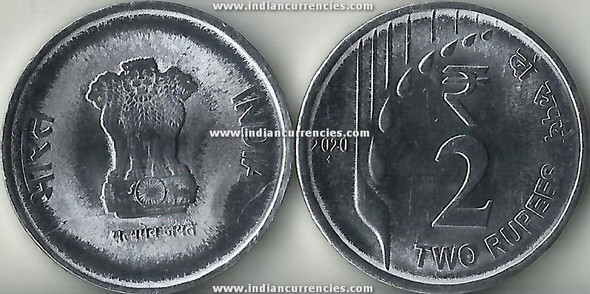 2 Rupees of 2020 - Mumbai Mint - Diamond - New Series