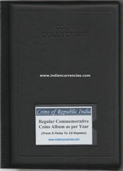 Blank Yearwise Album with names of Regular Commemorative Coins