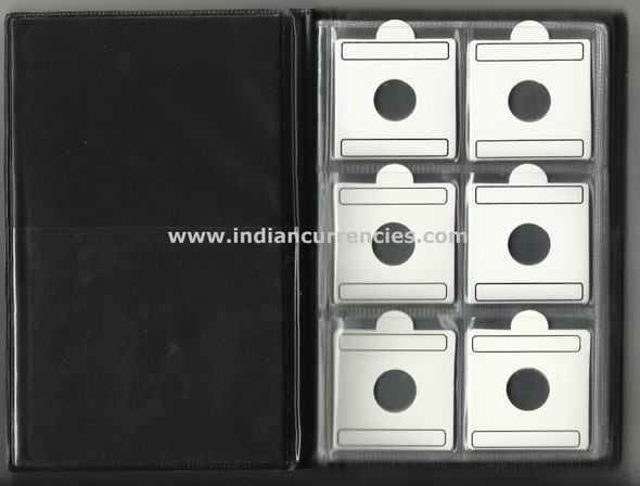 48 Coin Album with flips (coin holders) of different sizes