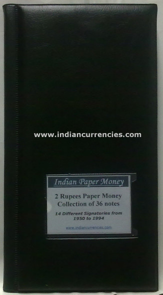 Blank Two Rupees Paper Money Album with Details of Notes