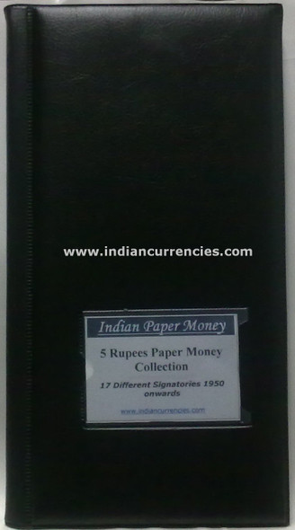 Blank Five Rupees Paper Money Album with Details of Notes