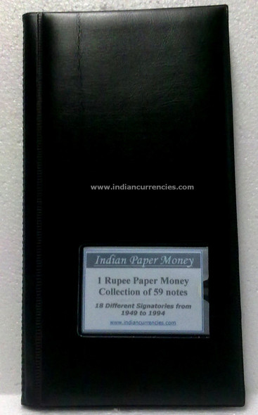 Blank One Rupee Paper Money Album with Details of Notes