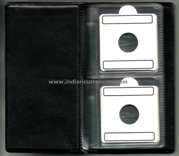 20 Coin Album with flips (coin holders) of different sizes
