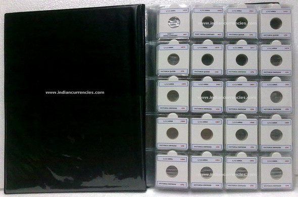 Blank Yearwise Album with names of British India Coins