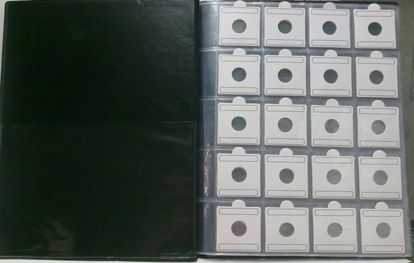240 Coin Album with flips (coin holders) of different sizes