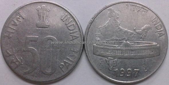 50 Paise of 1997 - Kolkata Mint - No Mint Mark