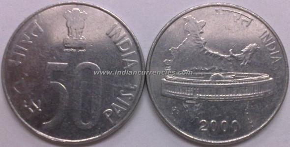 50 Paise of 2000 - Kolkata Mint - No Mint Mark