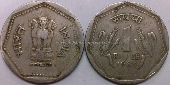 1 Rupee of 1983 - Kolkata Mint - No Mint Mark