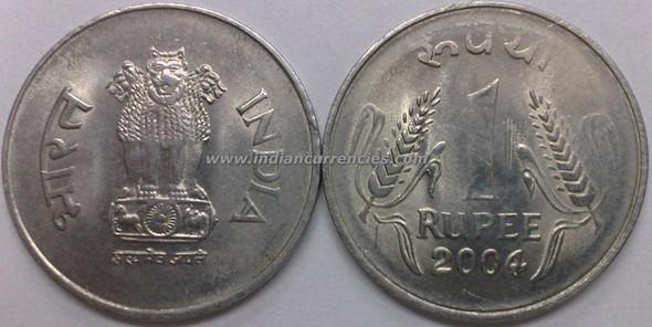1 Rupee of 2004 - Kolkata Mint - No Mint Mark