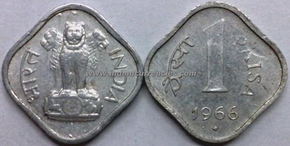 1 Paisa of 1966 - Mumbai Mint - Diamond