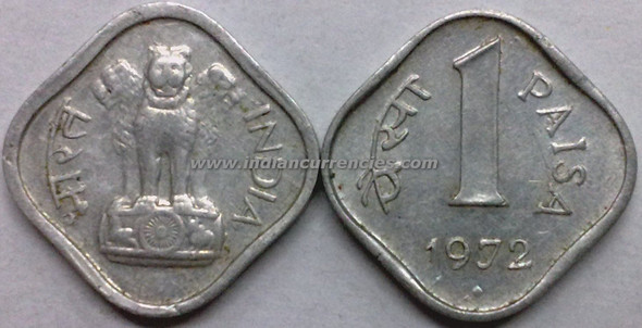 1 Paisa of 1972 - Mumbai Mint - Diamond