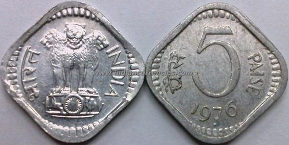 5 Paise of 1976 - Mumbai Mint - Diamond