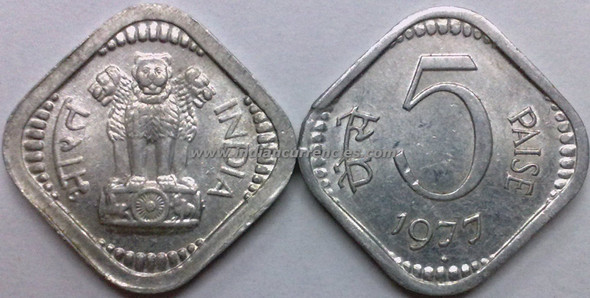5 Paise of 1977 - Mumbai Mint - Diamond