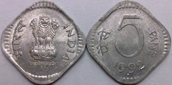 5 Paise of 1992 - Mumbai Mint - Diamond