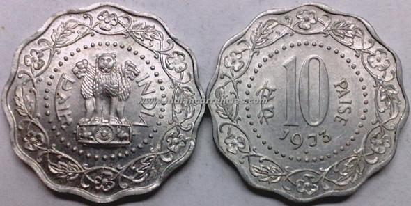 10 Paise of 1973 - Mumbai Mint - Diamond