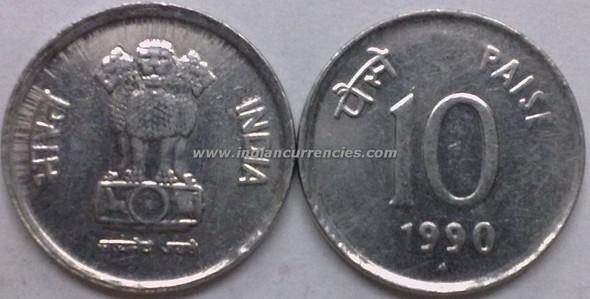 10 Paise of 1990 - Mumbai Mint - Diamond - SS