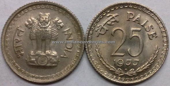 25 Paise of 1977 - Mumbai Mint - Diamond