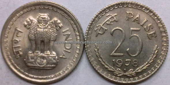 25 Paise of 1978 - Mumbai Mint - Diamond