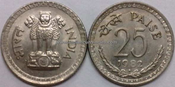 25 Paise of 1982 - Mumbai Mint - Diamond