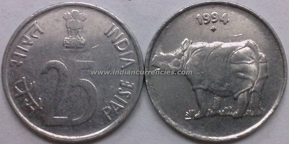 25 Paise of 1994 - Mumbai Mint - Diamond