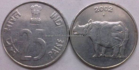 25 Paise of 2002 - Mumbai Mint - Diamond