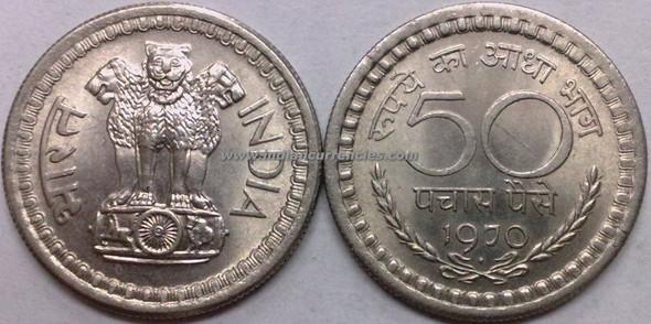 50 Paise of 1970 - Mumbai Mint - Diamond