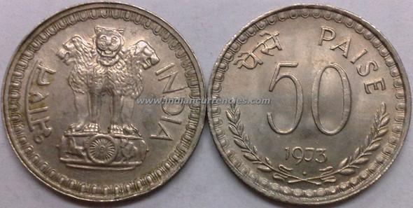 50 Paise of 1973 - Mumbai Mint - Diamond