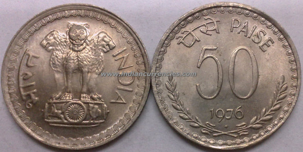 50 Paise of 1976 - Mumbai Mint - Diamond