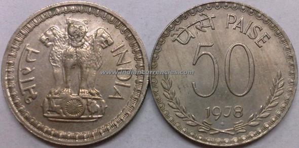 50 Paise of 1978 - Mumbai Mint - Diamond