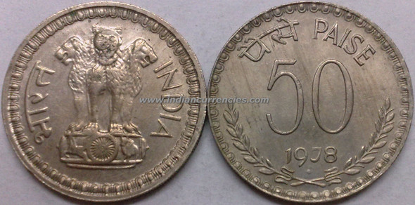 50 Paise of 1978 - Mumbai Mint - Diamond