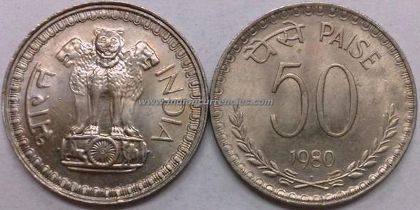 50 Paise of 1980 - Mumbai Mint - Diamond
