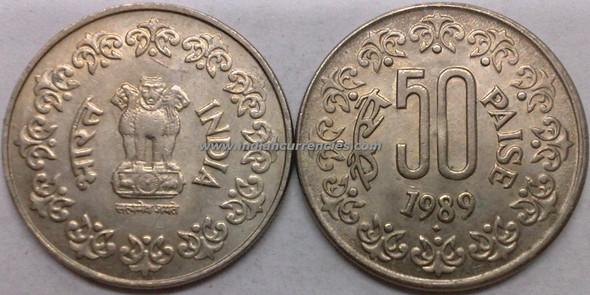 50 Paise of 1989 - Mumbai Mint - Diamond - Copper-Nickel