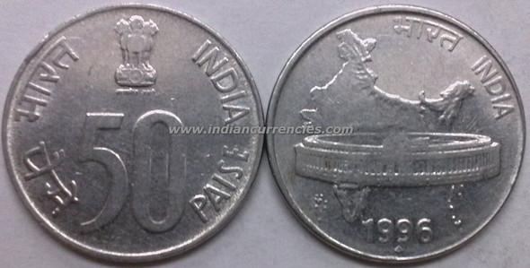 50 Paise of 1996 - Mumbai Mint - Diamond