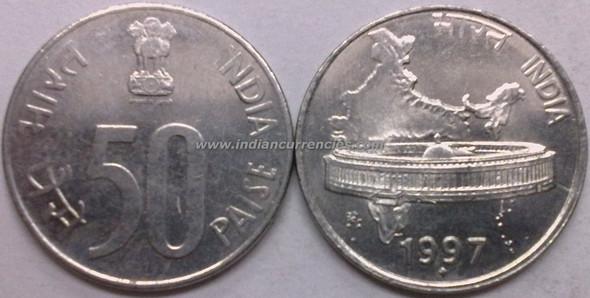 50 Paise of 1997 - Mumbai Mint - Diamond
