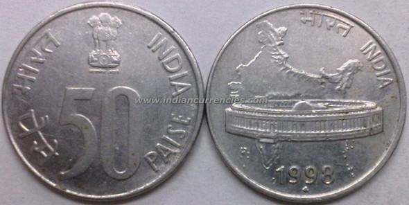 50 Paise of 1998 - Mumbai Mint - Diamond