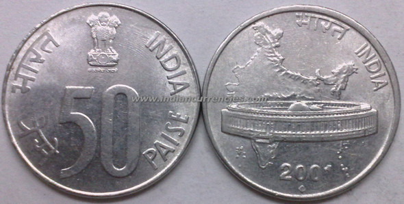 50 Paise of 2001 - Mumbai Mint - Diamond