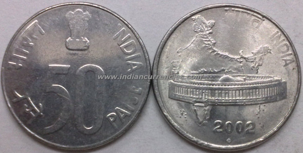 50 Paise of 2002 - Mumbai Mint - Diamond